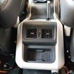 Mahindra Scorpio 2017 facelift rear AC vents