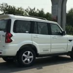 Mahindra Scorpio facelift side angle view