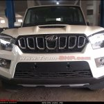 Mahindra Scorpio facelift spotted at dealer yard