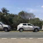 Mahindra TUV300 Plus, Mahindra S201 and 2018 Mahindra XUV500 (facelift) spy shot