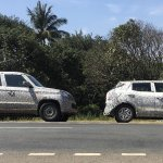 Mahindra TUV300 Plus and Mahindra S201 spy shot