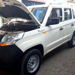 Mahindra TUV300 Plus front three quarters