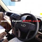 Mahindra TUV300 Plus interior dashboard spy shot