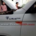 Mahindra TUV300 Plus mHawk D120 badge spy shot