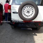 Mahindra TUV300 Plus rear spy shot