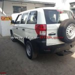 Mahindra TUV300 Plus rear three quarters spy shot