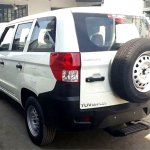 Mahindra TUV300 Plus rear three quarters