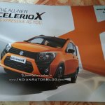 Maruti Celerio X front three quarters left side leaked brochure