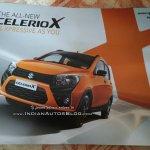 Maruti Celerio X front three quarters left side leaked brochure