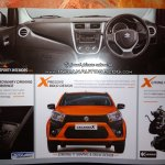 Maruti Celerio X interior dashboard leaked brochure