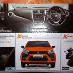 Maruti Celerio X interior dashboard leaked brochure