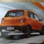 Maruti Celerio X rear three quarters leaked brochure