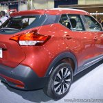 Nissan Kicks at Dubai Motor Show 2017 rear three quarters