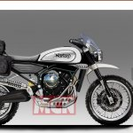 Norton 650 Scrambler rendering with accessories