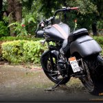 Royal Enfield Electra 350 Charcoal by Ornithopter rear