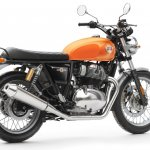 Royal Enfield Interceptor 650 Twin Orange Press shot rear right quarter