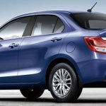 Suzuki Dzire (Maruti Dzire) rear three quarters