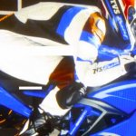 TVS Apache RR 310 S brochure scan blue right side