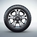Tata Hexa Downtown special edition alloy wheels