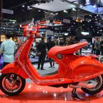 Vespa 946 RED left side at 2017 Thai Motor Expo