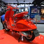 Vespa 946 RED rear left quarter at 2017 Thai Motor Expo