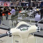 Vespa Primavera Touring Edition instrument console at 2017 Thai Motor Expo
