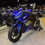 Yamaha R15 v3.0 front left quarter at 2017 Thai Motor Expo