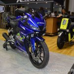 Yamaha R15 v3.0 front right quarter at 2017 Thai Motor Expo