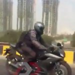 Yamaha R15 v3.0 spied action right side