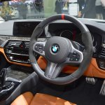 2017 BMW 5 Series with BMW M Performance accessories dashboard at 2017 Thai Motor Expo