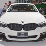 2017 BMW 5 Series with BMW M Performance accessories front at 2017 Thai Motor Expo