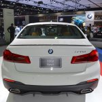 2017 BMW 5 Series with BMW M Performance accessories rear at 2017 Thai Motor Expo
