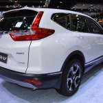 2017 Honda CR-V diesel rear three quarters 2017 Thai Motor Expo