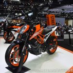 2017 KTM 390 Duke front left quarter at 2017 Thai Motor Expo