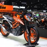 2017 KTM 390 Duke front right quarter at 2017 Thai Motor Expo
