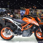 2017 KTM 390 Duke right side at 2017 Thai Motor Expo