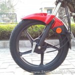 2018 Hero Super Splendor first ride review front wheel
