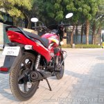 2018 Hero Super Splendor first ride review rear right quarter