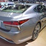 2018 Lexus LS rear three quarters at 2017 Thai Motor Expo