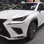 2018 Lexus NX 300h F-Sport front three quarters at 2017 Thai Motor Expo