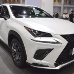 2018 Lexus NX 300h F-Sport front three quarters right side at 2017 Thai Motor Expo