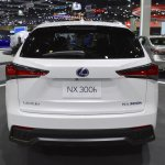 2018 Lexus NX 300h F-Sport rear at 2017 Thai Motor Expo