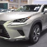 2018 Lexus NX 300h Premium front three quarters at 2017 Thai Motor Expo