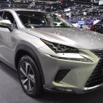 2018 Lexus NX 300h Premium front three quarters right side at 2017 Thai Motor Expo