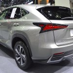 2018 Lexus NX 300h Premium rear three quarters left side at 2017 Thai Motor Expo