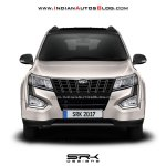 2018 Mahindra XUV500 facelift rendering front view