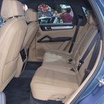 2018 Porsche Cayenne S rear seats at 2017 Thai Motor Expo.JPG