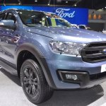 Accessorised Ford Everest front three quarters right side at 2017 Thai Motor Expo