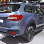 Accessorised Ford Everest rear three quarters at 2017 Thai Motor Expo