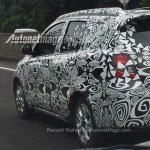 Datsun GO Cross spied rear three quarters